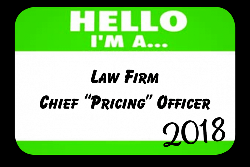 "Chief ""Pricing"" Officers Gain Momentum in 2018"